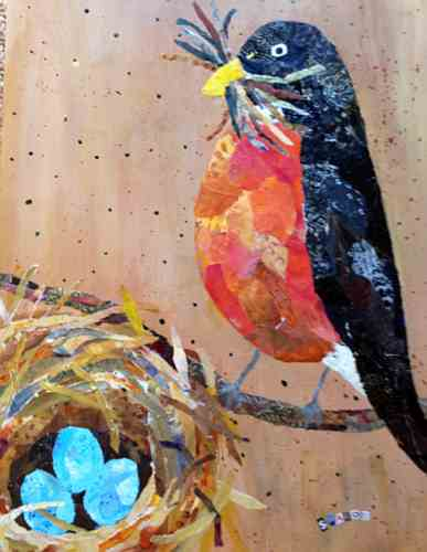 Feathering the Nest, Robin and eggs