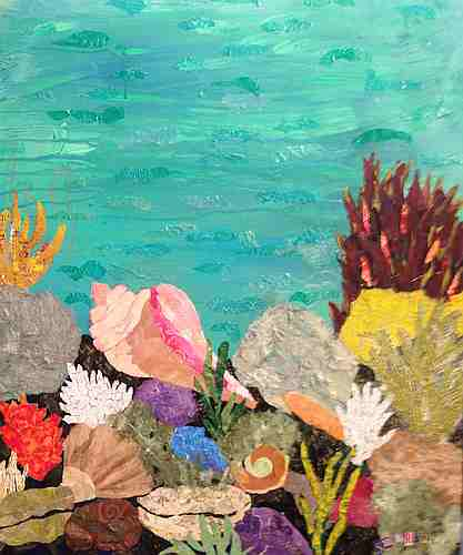 Neptune's Garden collage my Sharon Krulak