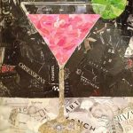 Preppy Cosmo, Torn Paper Collage